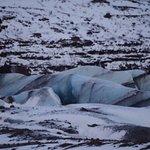 Glacier behind Hotel Skaftafell