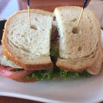 Turkey, avocado and bacon sandwich