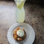 OUTSTANDING apple tart, lemonade