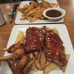 Perch dinner, Ribs & wings combo