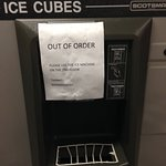 ice maker out of order...