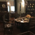 1st floor dining room - apparently the chair was always left in that position for FDR
