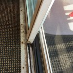 Sliding door track - dirty