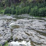 Ottauquechee River in the gorge bottom