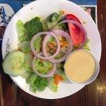 salad with honey mustard