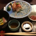 one of the courses of kaiseki dinner