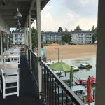 Boathouse restaurant outside seating
