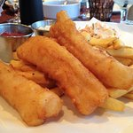 3 piece (sticks) fish & chips with fries and coleslaw