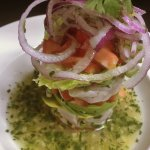 Halibut Ceviche Tower