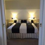 Bedroom with double sliding door