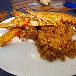 Plato individual del arroz a la brasa