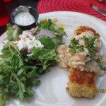 Parmesan halibut