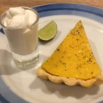 Lime Tart and real cream