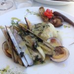 poisson et coquillages au curry vert