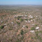 Phinda Mountain Lodge from the air