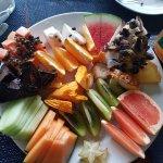 Breakfast exotic fruit platter