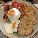 Veggie and meaty breakfasts are £7,95