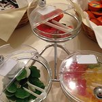 Gummy Bears on the breakfast buffet