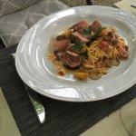 Spaghetti en zeevruchten