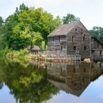 Yates Mill with almost perfect reflection in the mill pond