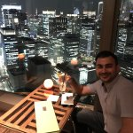 Last drink with stunning view of Tokyo skyline