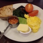 Rouge vegetarian breakfast