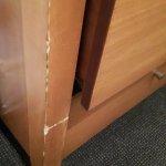 Damaged and worn furniture