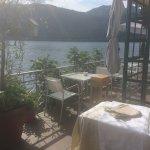 Beautiful terrace on the lake