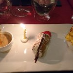 truffle taster menu - trio of deserts with b/day candle