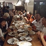 Our Tour Guests are having Dinner at Pondok Laguna Restaurant Jakarta