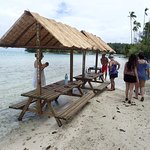 Picnic site from Outrigger Lagoon tour