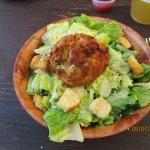 Crab Cake an Small Caesar Salad.