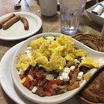 Greek breakfast skillet. Yum!