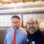 WITH MR. RAJ KUMAR AT HOTEL SAMSON RECEPTION LOBBY