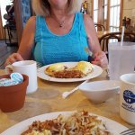 Scrumptious! Both my wife and the breakfast!