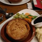 Beef & Double Gloucester Pie and Fish Pie (background)
