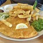 This was my husband's plaice and chips,he cleared the plate!