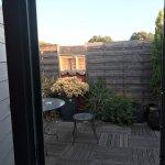 Terrasse de la suite sans vis à vis chambre 15