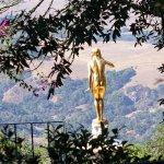 金漆美女俯視山谷
