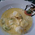 Chicken in cheese and leek sauce, fabulous taste