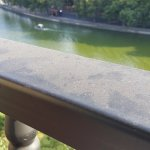 Balcony rail grime