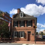 The Flag House where the Star Spangled Banner flag was commissioned - made at a nearby brewery.