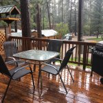 Front porch of #7. Part of it was covered so we didn't get wet during the rain shower.