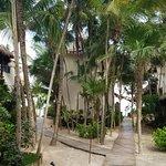 Walkway through the hotel towards the beach