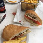 Caprese sandwich and fries!