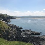 View of Cardigan Bay at the cliff edge