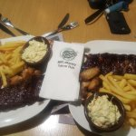 Sticky ribs :) and delicious Apple coleslaw