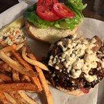 Pub Burger w/Blue Cheese Crumbles & Bacon Jam
