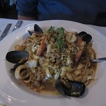 Seabass cioppino was lovely to look at and even better to eat