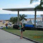 Entrando a la Playa de Punta Negra..detrás parte del Anfiteatro